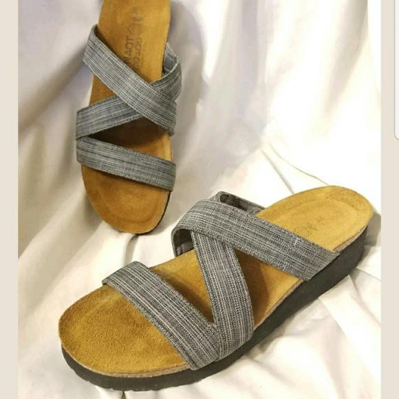 e3b9c436f96f Naot slide sandal 7-7.5 Naomi denim stretch Isreal.  M 5a92b301a4c4858d488dc609